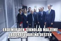 Erdemir'den Teknolab Malzeme Laboratuvarı'na destek