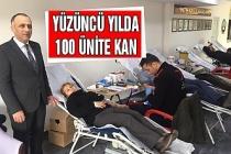 Yüzüncü yılda 100 ünite kan