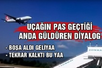 THY uçağı Zonguldak Havaalanı böyle pas geçti