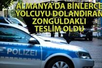 Almanya'da binlerce yolcuyu dolandıran Zonguldaklı polise teslim oldu