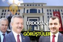 Erdoğan ile görüştüler...
