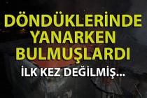 Zonguldak'ta bir ev üçüncü kez yandı