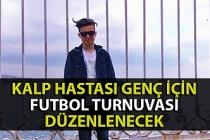Zonguldak'ta kalp hastası genç için futbol turnuvası