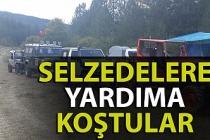 Zonguldaklı Off-Road tutkunları selzedelere yardıma koştu