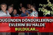Zonguldak'ta bir aile düğünden döndüklerinde evlerini yanmış halde buldu