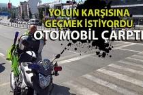 Zonguldak'ta yolun karşısına geçmek isteyen yaşlı adama otomobil çarptı