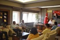 Çaycumaspor Kulübü'den Kaymakam Keçeli'ye ziyaret