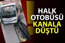 Halk otobüsü kanala düştü..!
