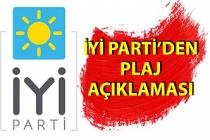 İYİ Parti'den plaj açıklaması