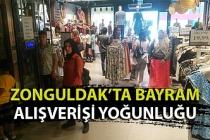 Zonguldak'ta bayram alışverişi yoğunluğu
