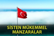 Zonguldak'ta meydana gelen sisten güzel manzaralar