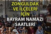 Zonguldak ve ilçelerinde bayram namazı saatleri