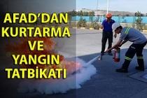 AFAD'dan kurtarma ve yangın tatbikatı