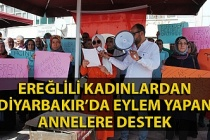 Kadınlardan Diyarbakır'da eylem yapan annelere destek