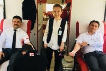 Kan bağışı kampanyası düzenlendi...