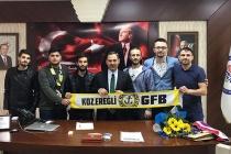 Genç Fenerbahçeliler'den Başkan Uysal'a ziyaret...