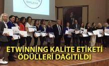 eTwinning kalite etiketi ödülleri dağıtıldı