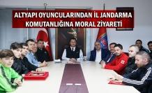 Altyapı oyuncularından İl Jandarma Komutanlığına moral ziyareti