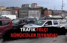 Trafik felç! Sürücüler isyanda!