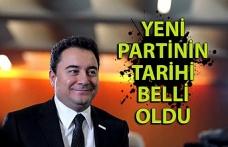 Ali Babacan'ın kuracağı partinin tarihi belli oldu