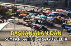 Belediye Başkanı Seyyar Satıcılara Büyük Güzellik Yaptı