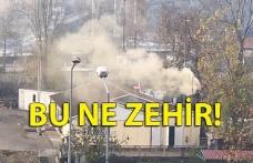 Zonguldak'ta çıkan dumana vatandaşlar tepki gösterdi