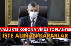 Valilikten yeni korona virüs tedbirleri