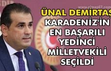 Ünal Demirtaş Karadeniz'in en başarılı yedinci milletvekili seçildi.