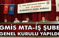 GMİS, MTA-İŞ Şube Genel Kurulu yapıldı