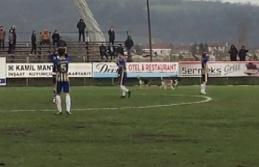 Köpekler sahayı bastı, maç durdu