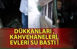 Şiddetli yağmur Zonguldak'ta hayatı felç...