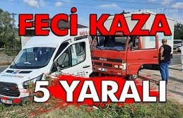 Zonguldak'ta trafik kazası: 5 yaralı