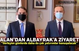 """BAŞKAN ALAN'DAN BERAT ALBAYRAK'A ZİYARET """"ilerleyen..."""