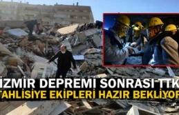 İzmir depremi sonrası TTK tahlisiye ekipleri hazır...