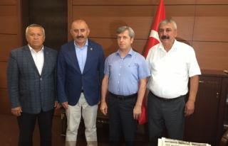 Vali Çınar'a hayırlı olsun ziyaretleri devam ediyor...