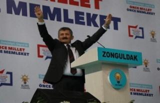 Tosun'dan Zonguldak halkına teşekkür
