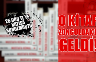 25.000 TL'lik kitap Zonguldak'a geldi