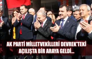 AK Parti Milletvekilleri Devrek'teki açılışta...