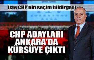 CHP adayları Ankara'da kürsüye çıktı...
