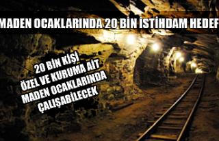 Maden ocaklarında 20 bin istihdam hedefi...