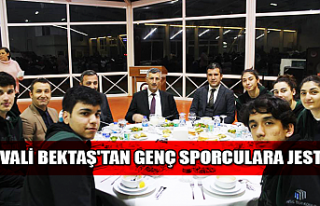 Vali Bektaş'tan genç sporculara jest...