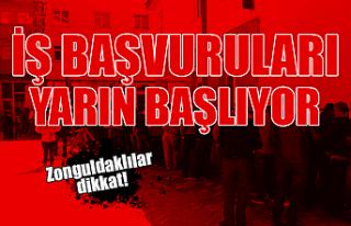 Zonguldak'ta işçi alımı süreci yarın başlıyor