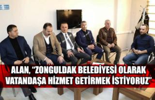 """Alan, """"Zonguldak Belediyesi olarak vatandaşa hizmet..."""