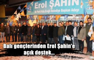 Balı gençlerinden Erol Şahin'e açık destek...