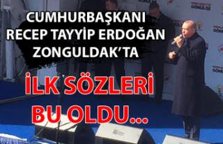 Cumhurbaşkanı Recep Tayyip Erdoğan Zonguldak'ta...