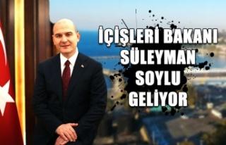 İçişleri Bakanı Süleyman Soylu geliyor...