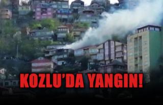 Kozlu'da yangın!