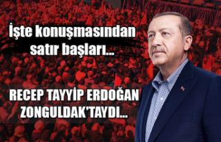 Recep Tayyip Erdoğan Zonguldak'taydı... İşte...