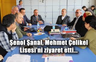 Şenol Şanal, Mehmet Çelikel Lisesi'ni ziyaret...