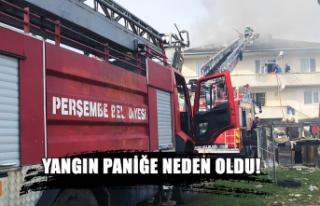 Yangın paniğe neden oldu...
